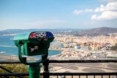 View across the border into Spain stock photos