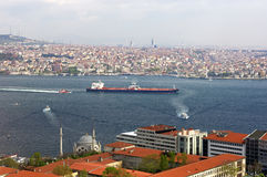 View across the Bosphorus straits Royalty Free Stock Images