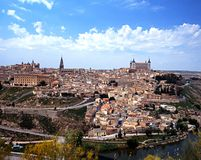 View across city, Toledo, Spain. Stock Photo