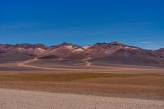 View Across Dali Mountains Altiplano Peru desert Salar de Uyuni Royalty Free Stock Photos