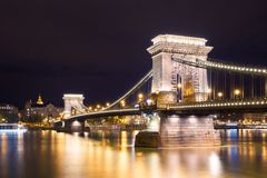 View Across the Danube in Budapest, Hungary royalty free stock image