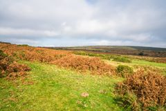 View across Dartmoor and the South Devon coast from Haytor Royalty Free Stock Image