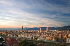 A view across Florence at sunset royalty free stock images