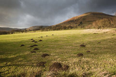 View across foothills of Kinder Scout in Peak District National Royalty Free Stock Image