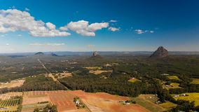 A view across the Glass House Mountains National Park, Australia stock footage