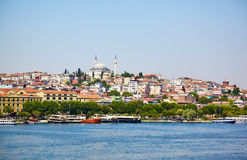 The view across Golden Horn, Istanbul Stock Photography