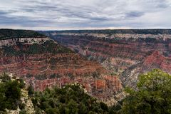 View across Grand Canyon North Rim Arizona stock images