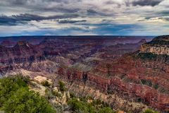 View across Grand Canyon North Rim Arizona Royalty Free Stock Photos