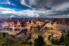 View across Grand Canyon South Rim Arizona Royalty Free Stock Photography