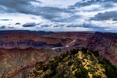 View across Grand Canyon South Rim Arizona Stock Image