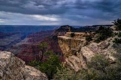 View across Grand Canyon North Rim Arizona Royalty Free Stock Photo