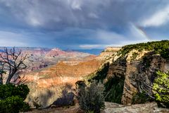 View across Grand Canyon South Rim Arizona Stock Photos