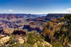 View across Grand Canyon South Rim Arizona Stock Photo