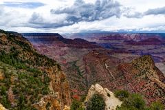 View across Grand Canyon South Rim Arizona Royalty Free Stock Image