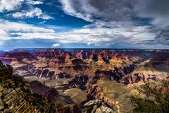 View across Grand Canyon South Rim Arizona Royalty Free Stock Photos