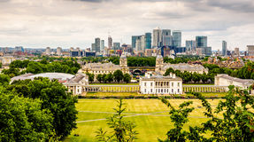 The view across Greenwich from the hill Royalty Free Stock Image