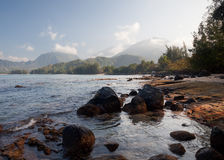 View across Hanalei Bay Stock Photo