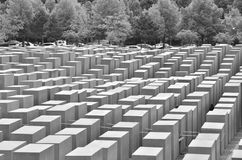 View across the Holocaust Memorial Royalty Free Stock Images