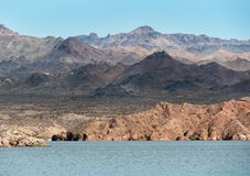 View across Lake Mohave stock photo