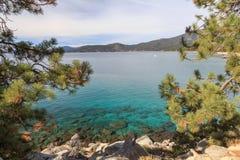 View Across Lake Tahoe Stock Image