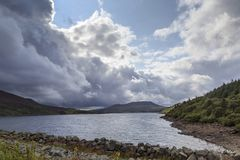 A view across Llyn Celyn Stock Images