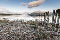 View across Loch Linnhe to Glencoe in Scotland. Stock Photography