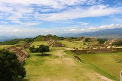 Across the Plaza of Monte Alban. stock image