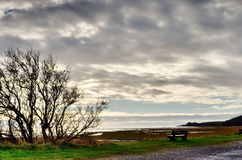 View across Morecambe Bay, from Bardsea Beach. Royalty Free Stock Photography
