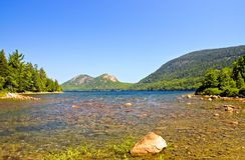 View across mountain lake royalty free stock image