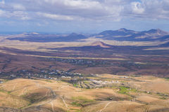 View across the mountains  Fuerteventura Canary islands Las palm Royalty Free Stock Photos