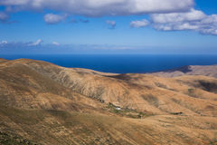 View across the mountains  Fuerteventura Canary islands Las palm Royalty Free Stock Photo
