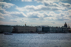 View across Neva River in St Petersburg Stock Images