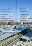 View across the new Viennese main train station Stock Photos