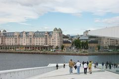 View Across the Oslo Opera House Royalty Free Stock Image