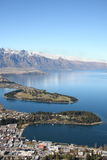View across Queenstown New Zealand Royalty Free Stock Image