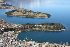 View across Queenstown New Zealand Stock Images