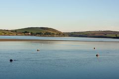 View across the River Camel from Padstow. To hills and countryside Royalty Free Stock Photography