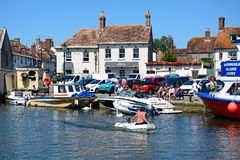 View across river to town, Wareham. Royalty Free Stock Photo