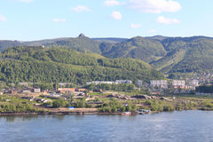 View across the river Yenisei Sverdlovsk region, Krasnoyarsk Stock Images