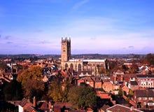 View across rooftops, Warwick England. Stock Photo