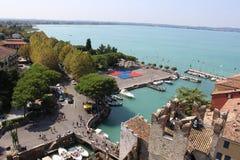 View across Sirmione peninsula, Lake Garda, Italy Royalty Free Stock Photography