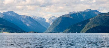 View across the Sognefjord, Norway Royalty Free Stock Photos
