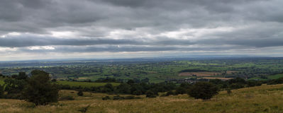 View across Somerset. View from Dear Leap in Somerset on a stormy day Royalty Free Stock Photos