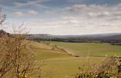 View Across the south Downs Royalty Free Stock Photos