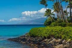 Napili Bay Maui view to Molokai Stock Photography