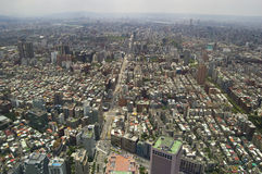 The view across Taipei, captial of Taiwan. From the top of Taipei 101, the second largest building in the world Royalty Free Stock Photography