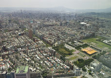 The view across Taipei, captial of Taiwan Royalty Free Stock Photos