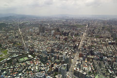 The view across Taipei, captial of Taiwan. The view across Taipei, capital of Taiwan, from the top of Taipei 101, the second largest building in the world stock photography