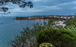 A view across Tenby and harbour at sunrise Royalty Free Stock Image