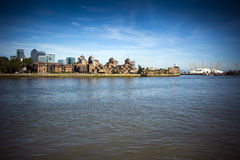 View across the Thames at Greenwich Royalty Free Stock Images